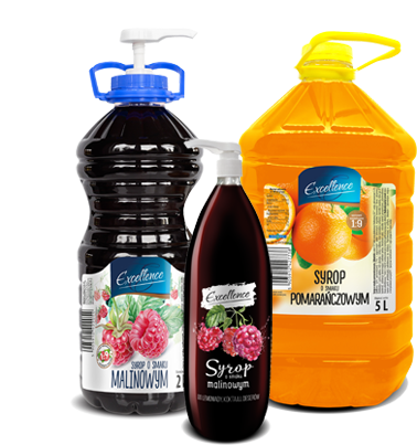Excellence syrups for the food service industry