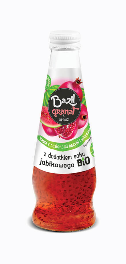 Basil seed, pomegranate and watermelon dietary supplement drink