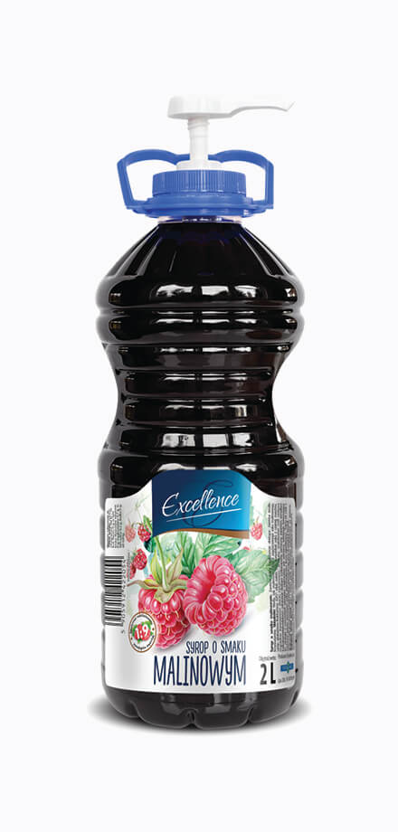 Food service syrup with raspberry flavour. Low sugar