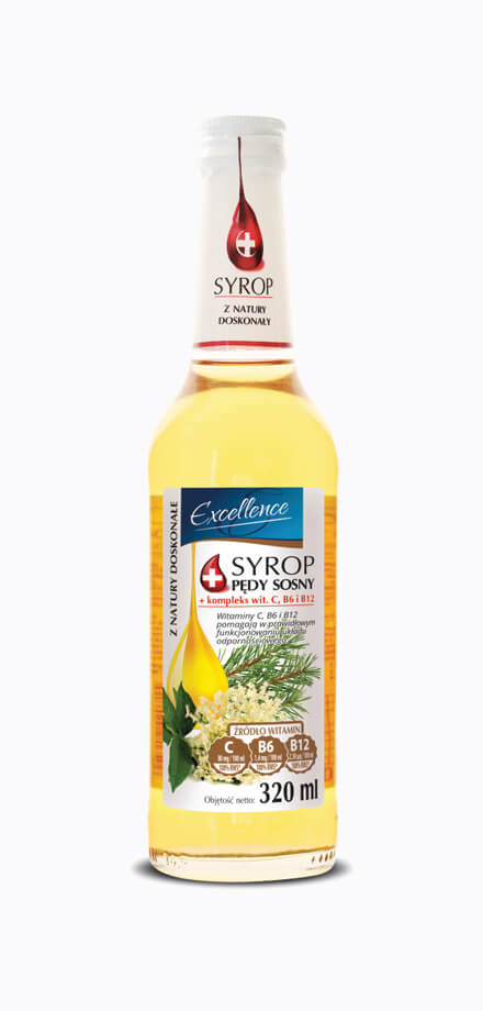 Pro-health syrup - pine shoots with elderflower