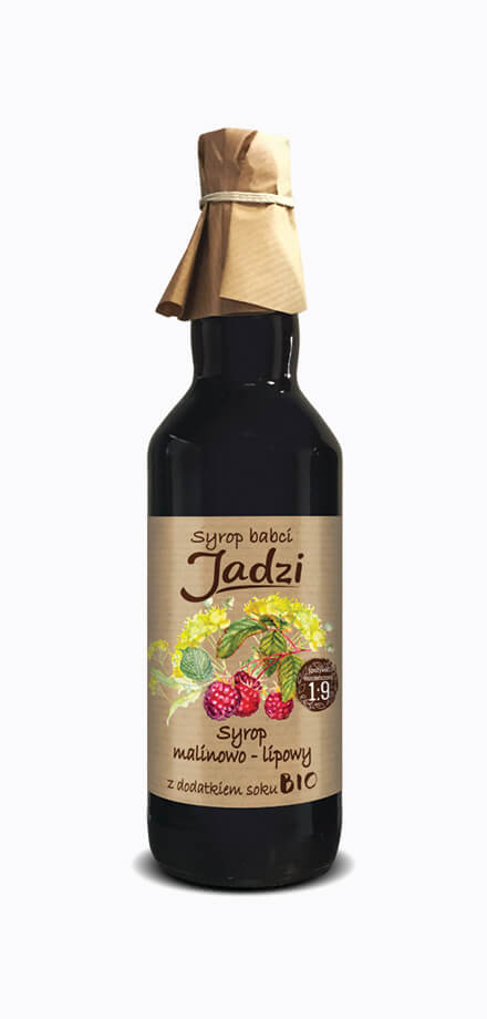 Babcia Jadzia raspberry and linden blossom syrup