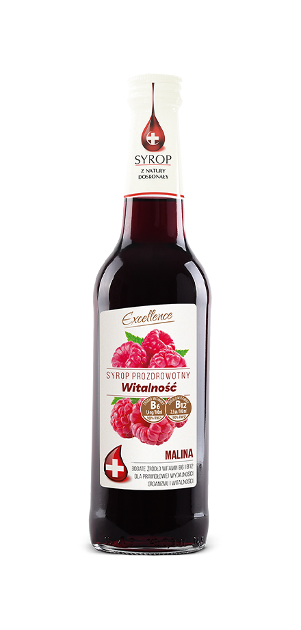 Pro-health-promoting syrup Vitality - Raspberry