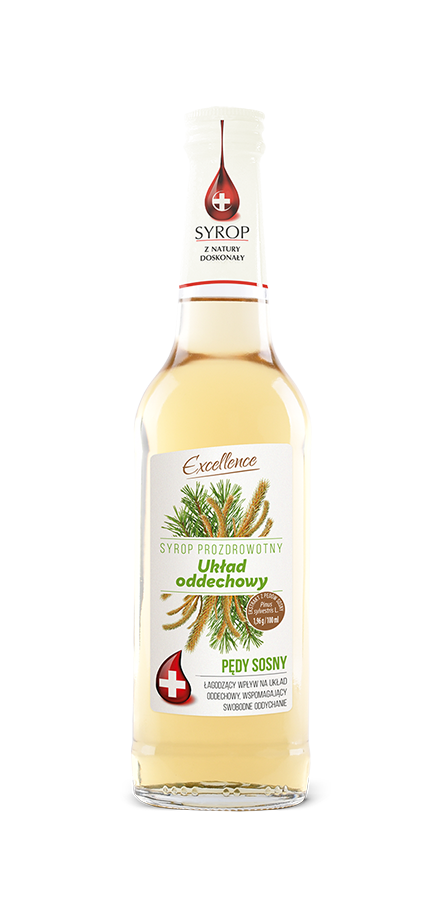 Pro-health-promoting syrup. Respiratory system - Pine shoots