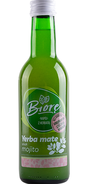 Non-carbonated mojito flavor drink with Yerba Mate extract
